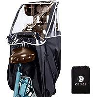 [kasar] 子供乗せ自転車 レインカバー 後ろ 自転車 チャイルドシート 厚手 撥水加工 収納バッグ