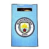 マンチェスター・シティ フットボールクラブ Manchester City FC オフィシャル商品 フロアラグ マット (ワンサイズ) (ブルー/ホワイト)