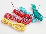 紗や工房 ロー引き紐 径約2mm・カラフル5色x約2m ポリエステル カラーワックスコード ロウヒモ 丸紐 ロープ ビーズ アクセサリーパーツ 手芸材料