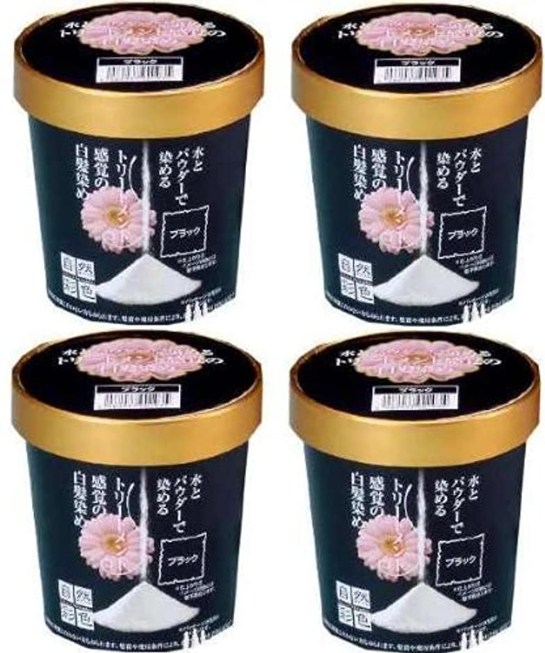 汚染されたレコーダータイプ自然彩色 ナチュラルブラック 同色4個組