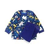 ampersand(アンパサンド) フリース動物サーカスパジャマ ブルー 80cm 子供服