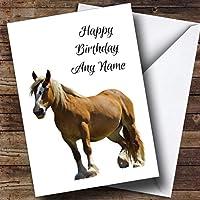 StunningオイルペイントHorse Personalized Birthday Greetingsカード