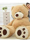 ぬいぐるみ 特大 くま/テディベア 可愛い熊 動物200CM 大きい くまぬいぐるみ/熊縫い包み/クマ抱き枕/お祝い/ふわふわぬいぐるみ (画像通り)