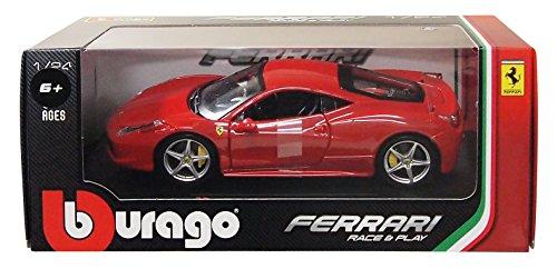 ブラーゴ 1/24 フェラーリ 458 イタリア レッド 完成品