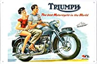トライアンフサンダーバードTRI650の金属看板 ティンサイン ポスター / Tin Sign Metal Poster of Triumph TRI650 Thunderbird