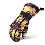 X.A スキーグローブ スノボーグローブ スキー 手袋 登山 手袋 防寒グローブ 防水 防寒 保温 通気性 サイズ選択可 (イエロー, XL(男性用))