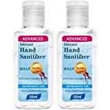Hand Sanitizer Gel 50ml Hand Gel Sanitizer Travel Size Portable Quick-Drying Pocket Hand Soap No Rinse Foam Cleaning by RJDJ