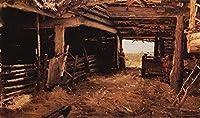 手描き-キャンバスの油絵 - peasant yard 1879 Ilya Repin 芸術 作品 洋画 ウォールアートデコレーション -サイズ11