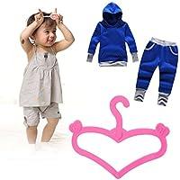 baynne 20個人形Clothes Hangers、ビンテージハードプラスチック衣服コートハンガー人形用アクセサリー