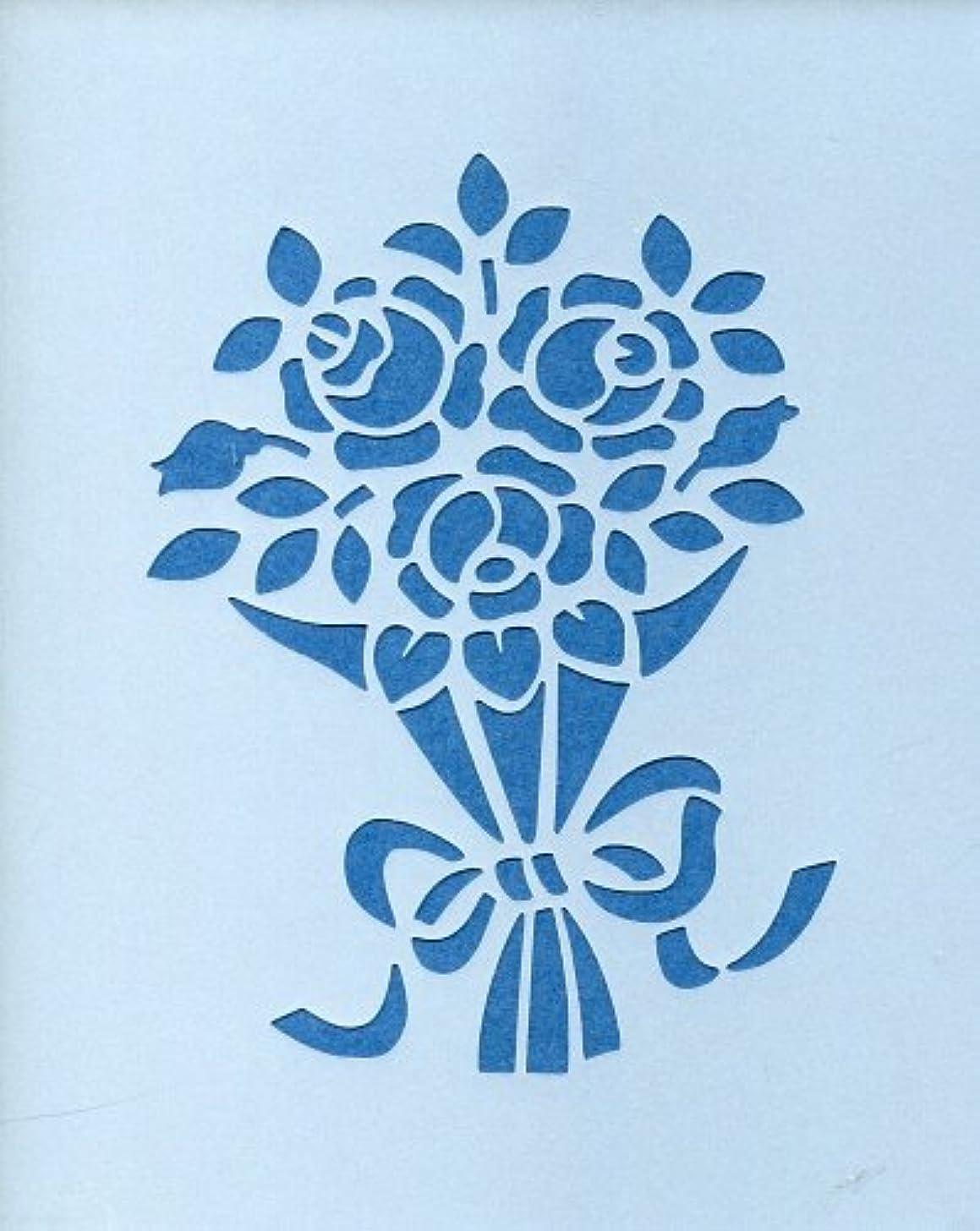 やむを得ない燃料メディカルファインホームのステンシルシート バラの花束 fh-082