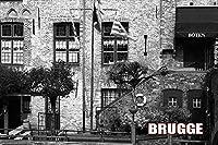 ポストカードAIR【観光地シリーズ】「BRUGGE」ベルギーブルージュ(フランダースの犬の街)の文字入りポストカード絵葉書ハガキはがき