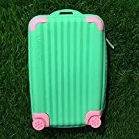 Silicone Coin Purse ,Suitcase Card Bag, Candy Color Waterproof Small Soft Zipper Storage Bag Girls Cute Purse
