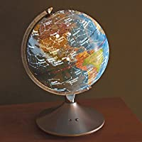 Bits and Pieces - Constellation Globe - 14 inch Illuminated Globe - Earth and Star Constellations - Great Gift for a Young Astronomer - 2-in-1 World Globe and Constellation [並行輸入品]