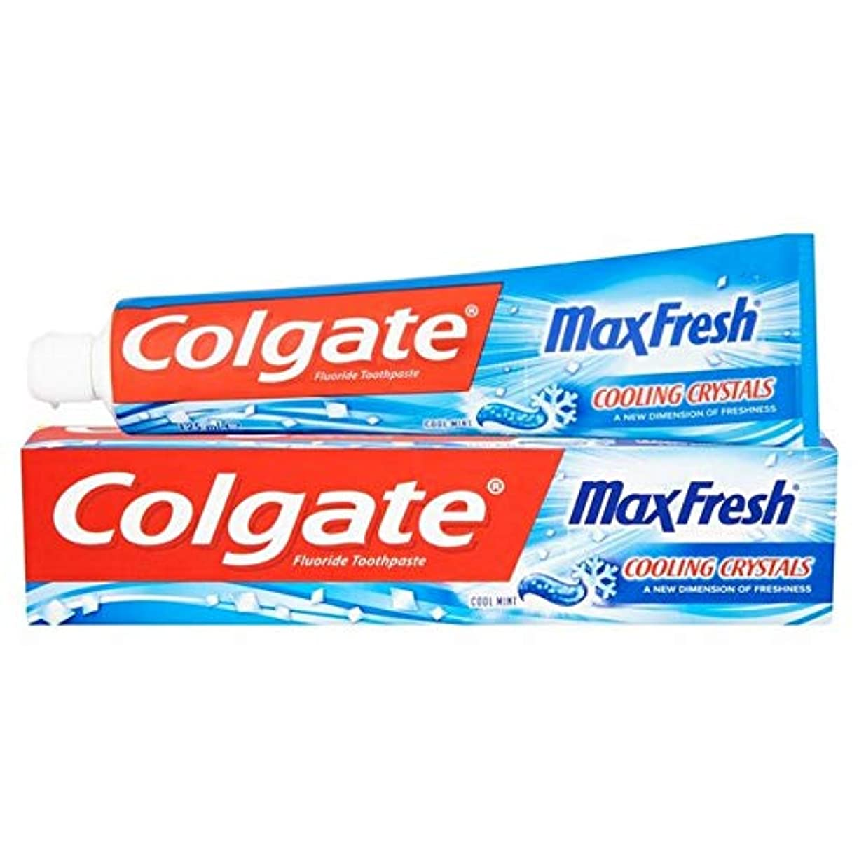 [Colgate ] 冷却結晶歯磨き粉の125ミリリットル新鮮なコルゲートマックス - Colgate Max Fresh with Cooling Crystals Toothpaste 125ml [並行輸入品]