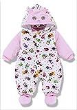 プーマ コート 赤ちゃん 動物柄 可愛い ベビー服 もこもこ 暖かい 男の子 女の子 (65cm, ピンク)