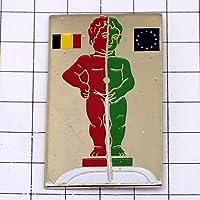 限定 レア ピンバッジ ブリュッセル小便小僧ベルギー国旗 ピンズ フランス