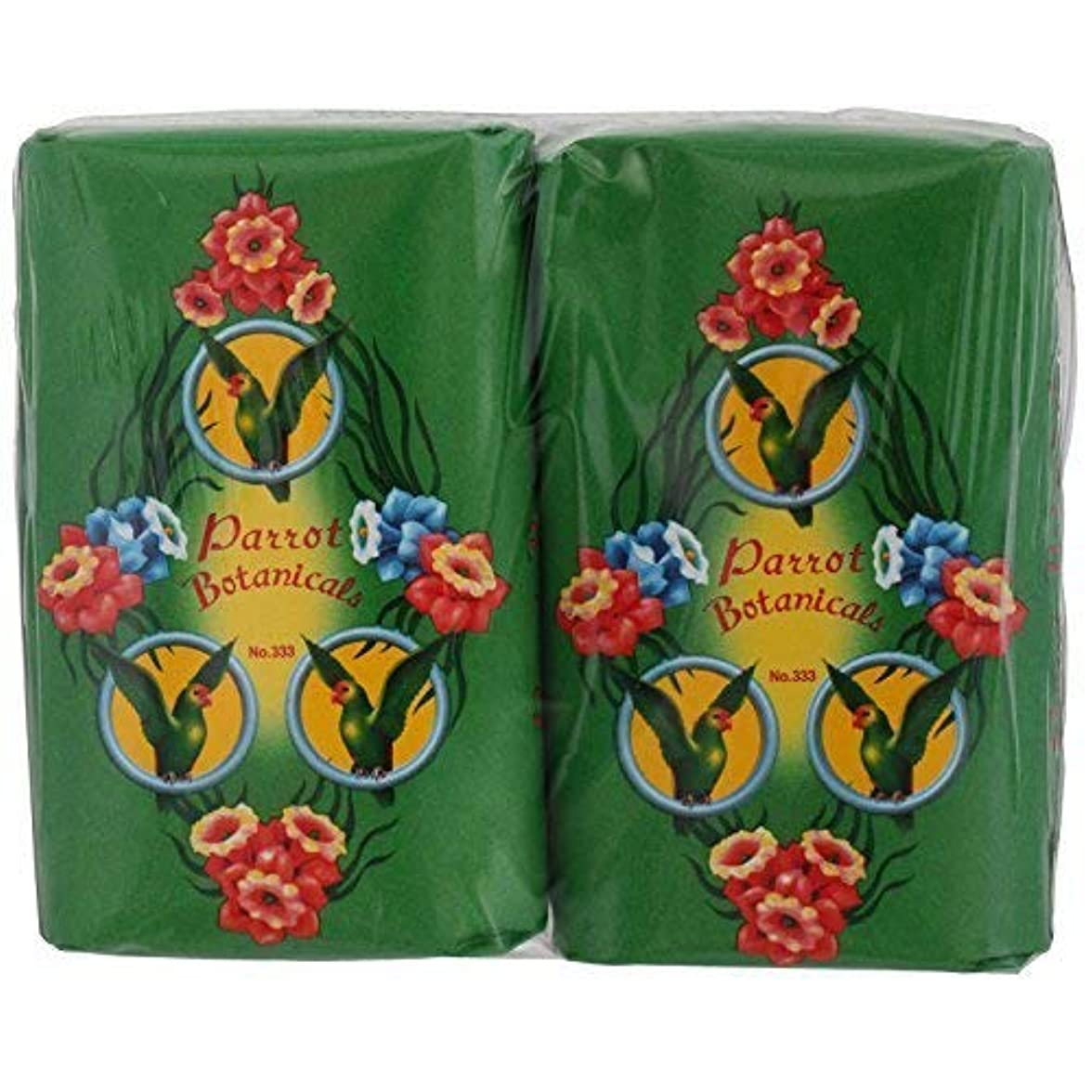 適応的休暇行進Rose Thai Smile Shop Parrot Botanicals Soap Green Long Last Fragrance 105 G (Pack of 4) Free Shipping