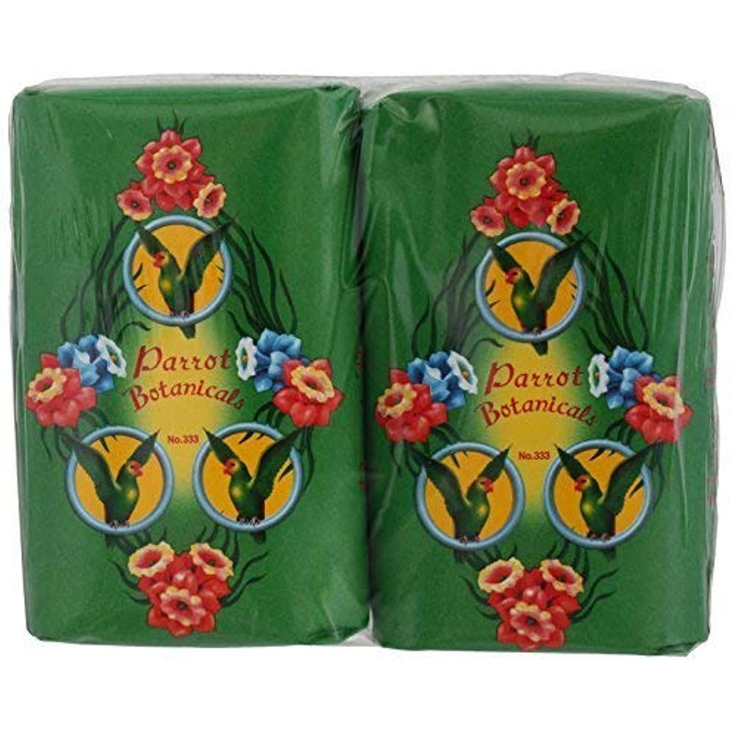 ペデスタル行進否定するRose Thai Smile Shop Parrot Botanicals Soap Green Long Last Fragrance 105 G (Pack of 4) Free Shipping