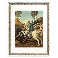 ラファエロ・サンティ Raffaello Santi (Raffaello Sanzio) 「Saint George and the Dragon, ca. 1506.」 額装アート作品