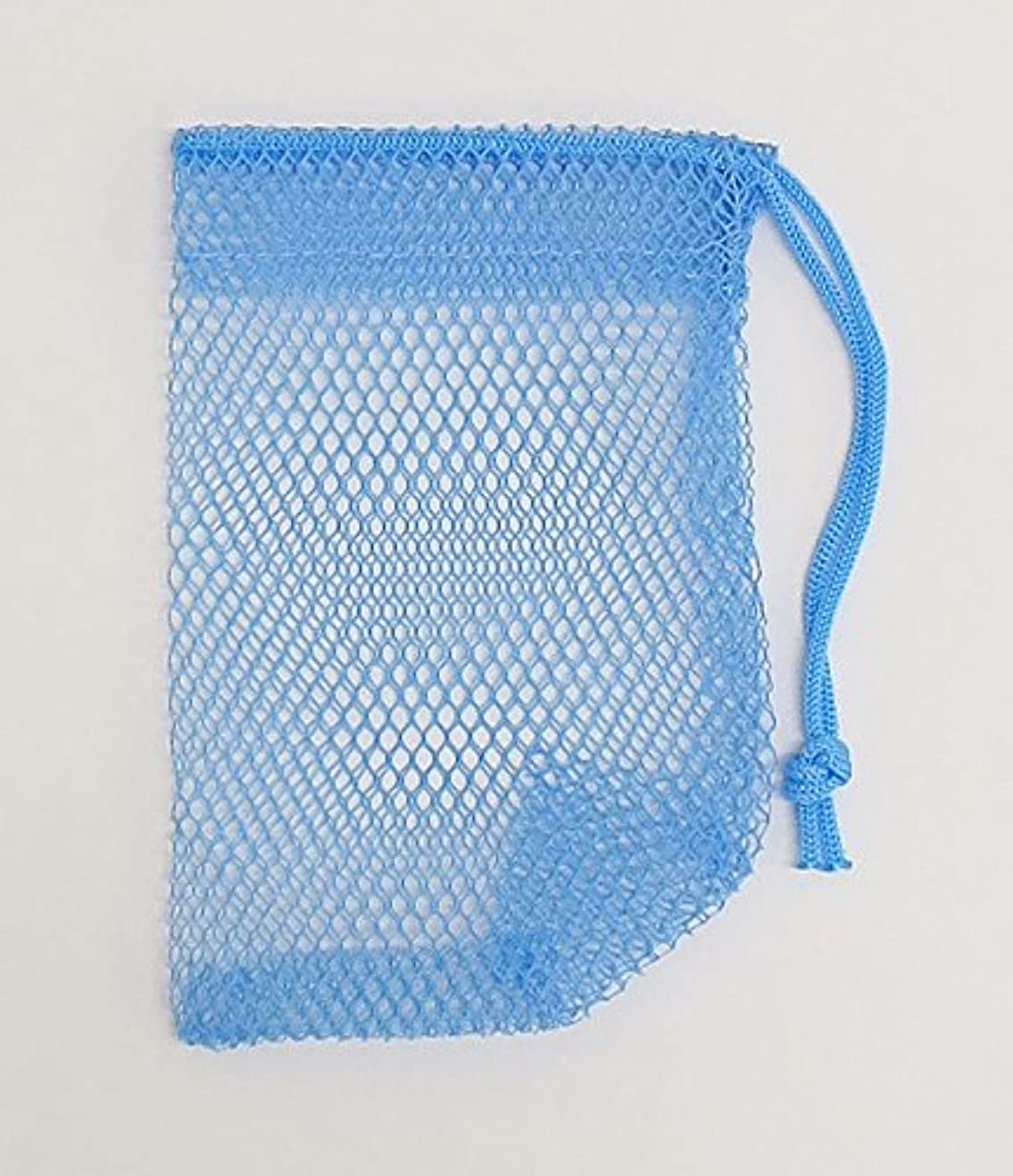 より平らな伝統的本土石けんネット ひもタイプ 20枚組 ブルー