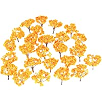 20本 モデルツリー ジオラマ 模型 木 森 材料 キット 黄色 プラスチック 樹木 モデルツリー 鉄道 建物 箱庭 風景 情景コレクションザ 教育 写真 65mm