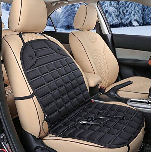 KJshop ホットカーシート 12V 座席ヒートクッション シートヒーター 車載 防寒...