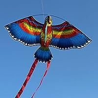 Manyao 新しいオウムの凧鳥の凧アウトドア凧フライングおもちゃ子供たちの子供たちのための凧