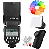 GODOX V860II-O 2.4G TTL Li-on Battery Flash for Olympus Panasonic Cameras GN60 1/8000s HSS 1.5s Recycle Time 650 Full Power Pops 22 Steps of Power Output - with PERGEAR Cleaning Kit and Color Filters