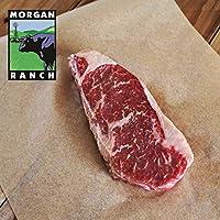 モーガン牧場ビーフ アメリカ産 牛肉 熟成 高品質 厚切りサーロインステーキ プレミアム アメリカンビーフ ホルモン剤や抗生物質不使用 340g