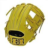 HI-GOLD(ハイゴールド) 軟式グラブ 心極シリーズ 二塁手・遊撃手用 LH 右投げ KKG-7514 ナチュラルイエロー C-2