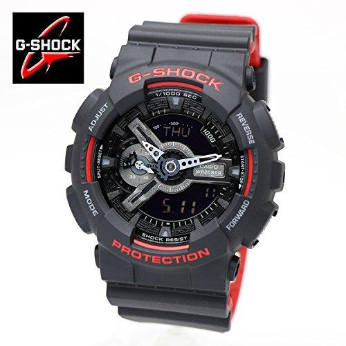 CASIO(カシオ) 腕時計 G-SHOCK Gショック Black & Red Series ブラック&レッドシリーズ GA-110HR-1A アナデジ フルオートカレンダー 耐磁時計 メンズ [並行輸入品]