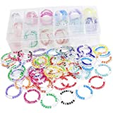 D&D Acrylic Condition Rings 64 PCS Status Effect Markers in 16 Conditions & Colors with 3x6 Storage Box Great DM Tool for Dungeons & Dragons, Pathfinder and RPG Miniatures