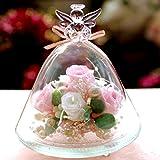 プリザーブドフラワーIPFA プリザーブドフラワー ギフト 『ガラスドーム エンジェル (ピンク&ホワイト)』
