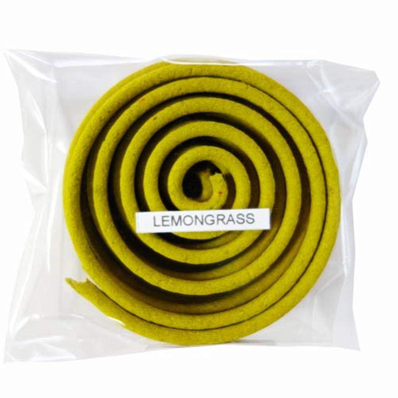 いっぱい正午書くお香/うずまき香 LEMONGRASS レモングラス 直径6.5cm×5巻セット [並行輸入品]