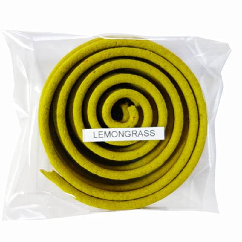 巨人入力序文お香/うずまき香 LEMONGRASS レモングラス 直径6.5cm×5巻セット [並行輸入品]