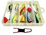 選べる ルアー アソート セット + ボトルリング ホルダー 練習用 釣り具 バスフィッシング 海釣り (10個)