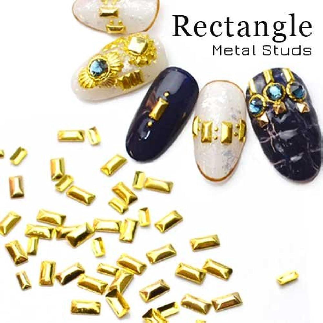 反逆者相互アスペクトレクタングルメタルスタッズ[Sゴールド]約30粒入 ピラミッド メタルパーツ ジェルネイル