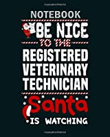 Notebook: registered veterinary technician1 - 50 sheets, 100 pages - 8 x 10 inches