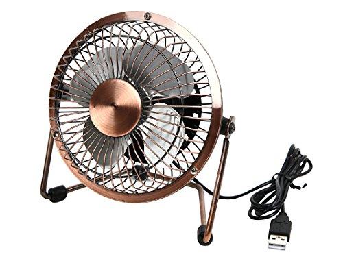【ブロンズメッキ】静音 14cm USB扇風機 熱伝導率が高...