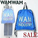 WAMWAM(ワムワム) ロゴ入り_2WAYナップサック ●70901/F/ブルー