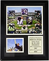 Legends Never Die Oakland Raiders 70 's Defensive Greats Framed写真コラージュ、11 x 14インチ