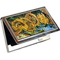 4つでカットひまわりVincent van Goghビジネスカードホルダー