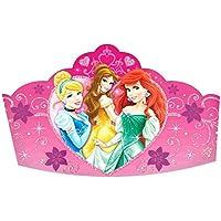 ディズニープリンセスSparkle誕生日パーティー紙ティアラウェアラブルアクセサリー装置8パック、ピンク、5。」