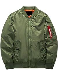Fly Year-JP メンズスリムボンバージャケットカジュアルプリント上着?コート