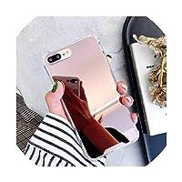 360度エアバッグドロッププルーフミラー透明ソフトシリコンバックケースiPhone XS 11プロマックスXR 7 8プラス6 6 s X 10ケースカバー、iPhone 7、ブラック