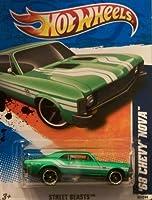 2011 Hot Wheels '68 CHEVY NOVA street beasts 2 of 10, #82 green