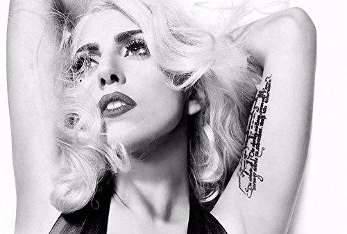 Lady Gagaポスター???ブラックandホワイトGiantアートプリントg1182 47 inch x 32 inch