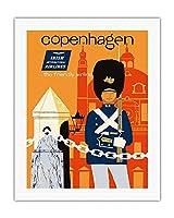 コペンハーゲン - アイルランド国際航空 - フレンドリーな航空会社 - ビンテージな航空会社のポスター によって作成された ディック・ニーガス・アンド・フィリップ・シャーランド c.1960s - キャンバスアート - 51cm x 66cm キャンバスアート(ロール)