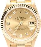 ロレックス デイトジャスト 79178G 自動巻き A番 新ダイヤ 腕時計 K18 YG シャンパン文字盤 ROLEX レディース 【中古】