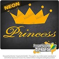 王女 Princess 16cm x 11cm 15色 - ネオン+クロム! ステッカービニールオートバイ